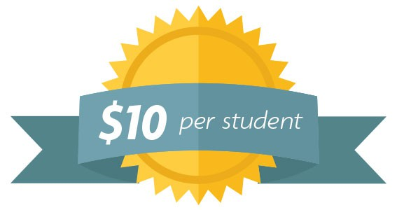 10 dollars per student
